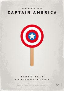 My SUPERHERO ICE POP - Captain America by chungkong
