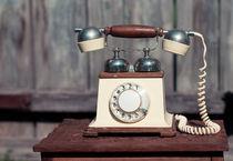 Old retro telephone by Olha Shtepa