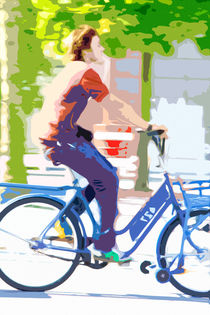 Fahrradfahrer von Angelika Wiedemeyer