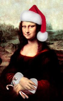 Mona Lisa with Santa Hat  by gravityx9
