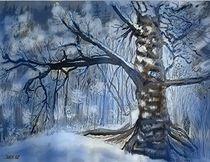 Winterwaldlichtung von Heidi Schmitt-Lermann
