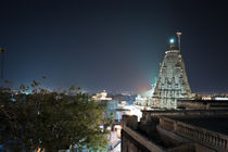 Udaipur at night from rooftop von Daniel Dostalik