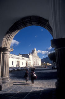 UNDER THE ARCH Antigua Guatemala by John Mitchell