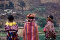 THREE MAYA WOMEN Zunil Guatemala by John Mitchell