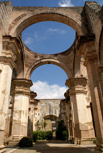 RUINED CATHEDRAL  Antigua Guatemala by John Mitchell
