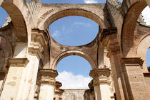 RUINED CATHEDRAL ARCHES Antigua Guatemala by John Mitchell