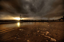 Sunset over the Groynes  by Rob Hawkins