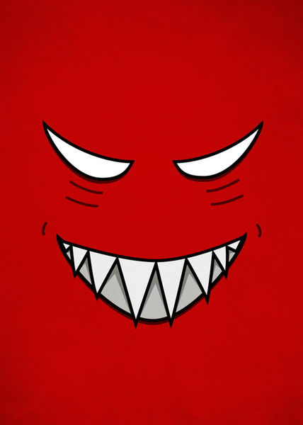 Red-grinning-face-evil-eyes-7000