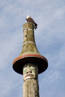 Eagle and Totem Pole by John Mitchell