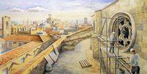 Blick über die Dächer von Barcelona (View over the roofs of Barcelona) von Ronald Kötteritzsch