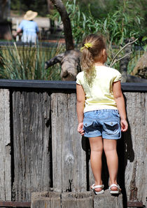 Girl in reptile park by Inger  Ulrich Photography