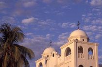 Flores Church Domes Guatemala by John Mitchell