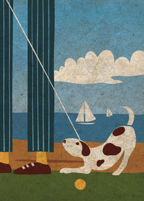 Playful Dog by Benjamin Bay