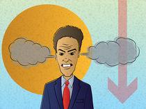 Overwhelmed Businessman von Geoff Leighly