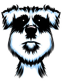 Terrier Dog Portrait von Geoff Leighly