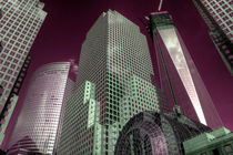World Financial Centre in pink  by Rob Hawkins