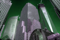 World Financial Centre in green by Rob Hawkins