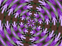 Purple Azaleas Kaleidoscope by skyler