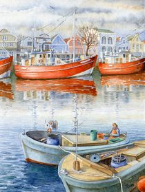 Warnemünde: Boote am Alten Strom (Warnemünde: boats in the old port) von Ronald Kötteritzsch