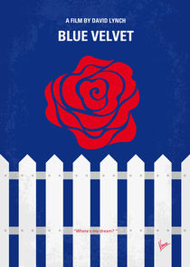 No170 My BLUE VELVET minimal movie poster von chungkong