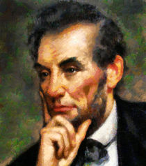 Abraham Lincoln - Abstract Realism von Zeana Romanovna