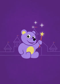 Purple Cartoon Teddy Bear Fairy von Boriana Giormova