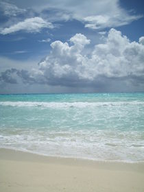 Beach Mexico, Caribbean Sea,  by Tricia Rabanal
