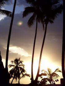 Romantic heart in cloud, Sunset Palms (Samana) von Tricia Rabanal