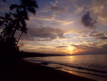Sunset Caribbean  landscape by Tricia Rabanal