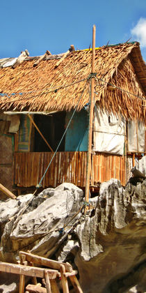 Philippinen- Strohhütten von lessaksart