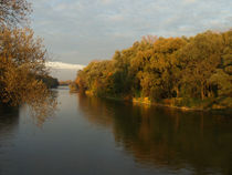 Herbstabend an der Isar von Brigitte Deus-Neumann