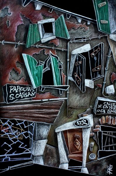 Dibujo-arte-grafica-venecia-venise-art-dessin-crayon-italie