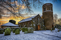 St Marys in the snow by Mark Bunning