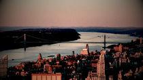 Manhattan, Hudson River by Ana Mazi