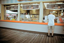 Ordering Pizza On The Boardwalk Wildwood New Jersey by Jamie Starling
