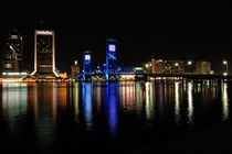 Jacksonville Florida at Night  by Jamie Starling