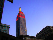 Color Empire State Building NYC Cityscape by Jamie Starling