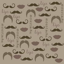 Mustache and Lips von Patricia N