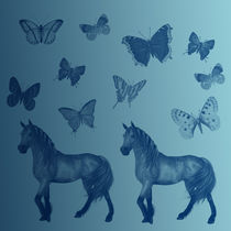 Horses and Butterflies by Patricia N
