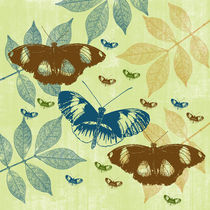 Butterflies and Leaves by Patricia N