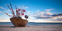 Fishing boat in the morning by Arkadius Ozimek