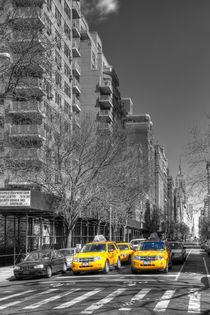 New York Cabs by David Tinsley