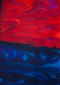 Cielo rojo sobre mar azul by Laura Benavides Lara