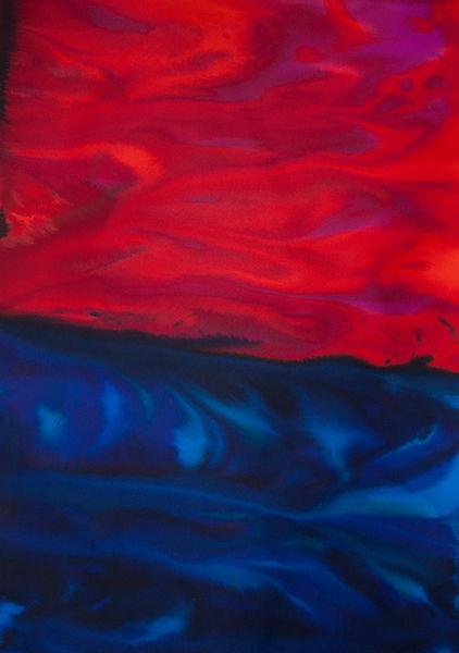 Cielo-rojo-sobre-mar-azul