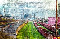 Landscape of industrial site by Hobort Hob
