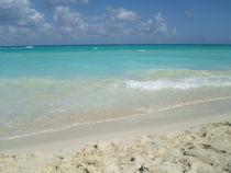 Blue water, Caribbean Beach by Tricia Rabanal