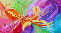 Colorful Pop Art Abstract  by Julia Fine Art