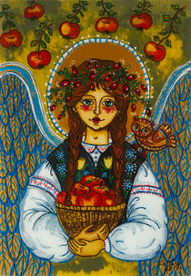 The autumn angel with the owl von Iwona Fafara-Pilch
