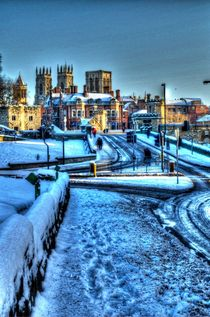 York Minster over Lendal Bridge by Allan Briggs