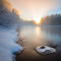 Winter sunrise by Mikael Svensson